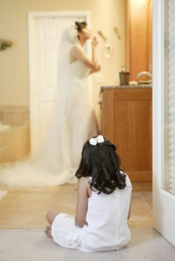 bride in bathroom 2
