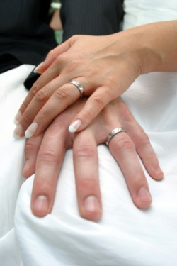 To Follow The Wedding Band On Bottom And Engagement Ring Top Rule Brides Tend Put Their Right Finger During