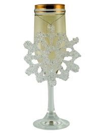 christmas champagne glass